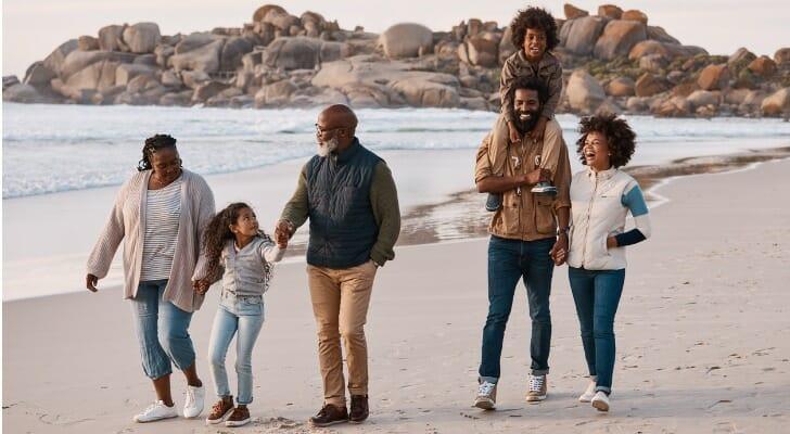 Black multi-generational family