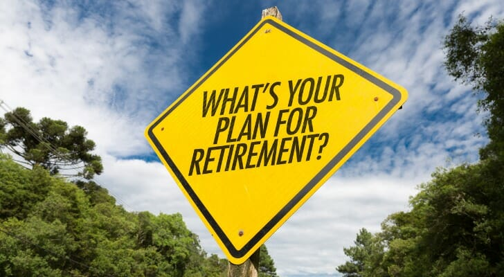 """Traffic sign: """"WHAT'S YOUR PLAN FOR RETIREMENT?"""""""