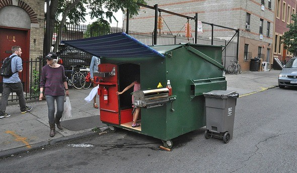 dumpster living Micro Living: This Guy Lives in a Dumpster