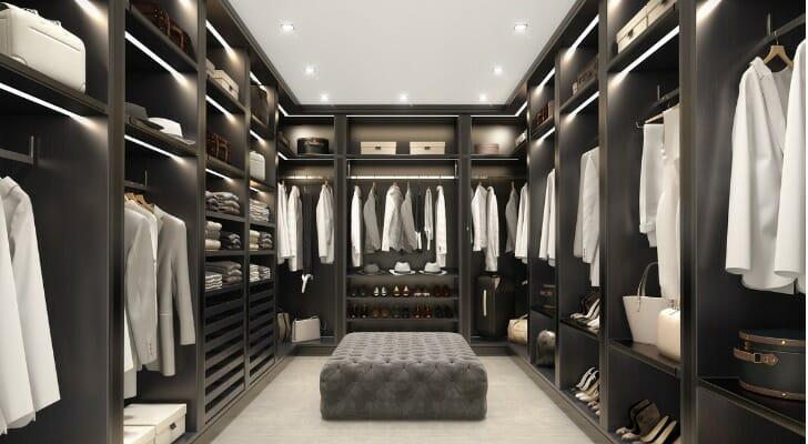 Huge walk-in clothes closet