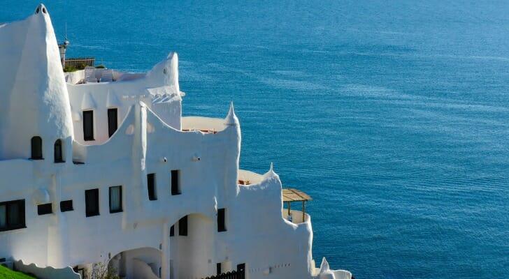 A view of the Casapueblo resort located in Punta Ballena, Uruguay