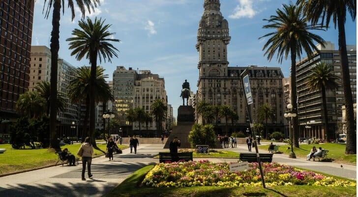 Main square of Montevideo, Uruguay