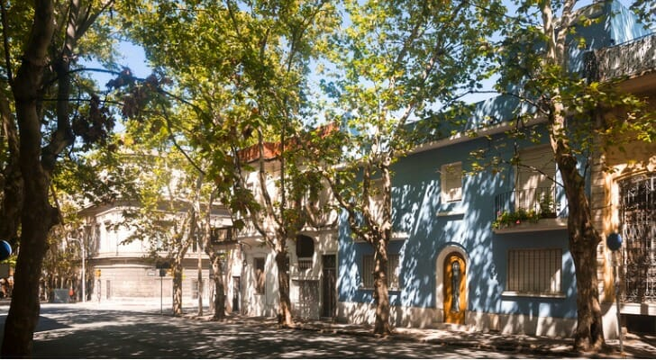 A residential street in Montevideo