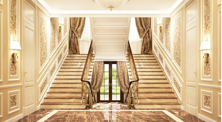 Entrance hall of a big mansion