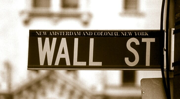 A street sign for Wall Street