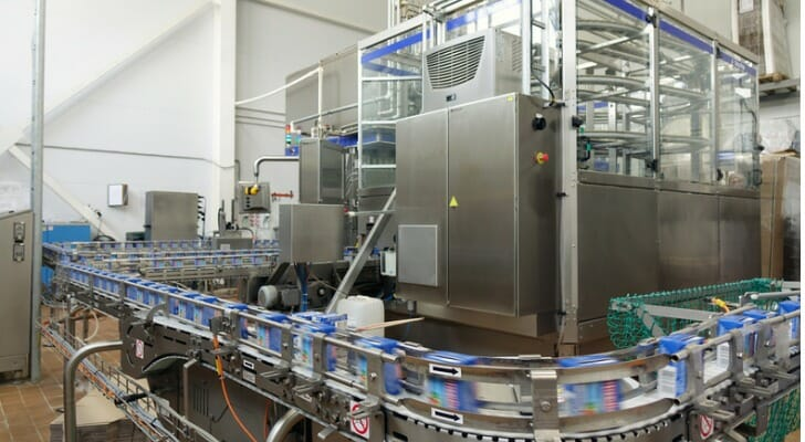New conveyor line at dairy plant
