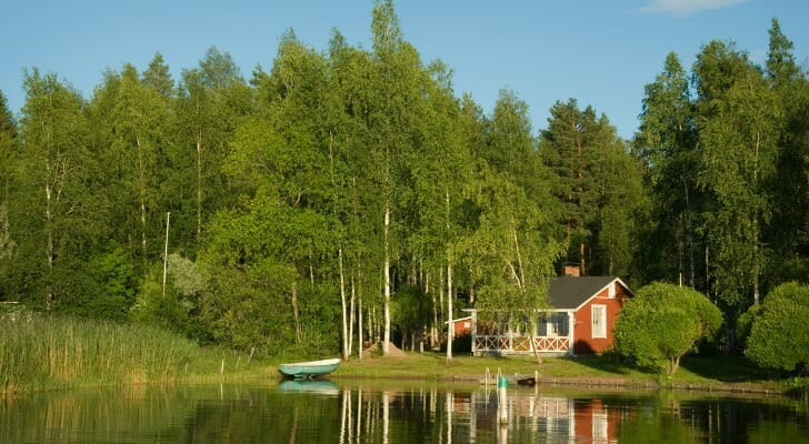 Summer cottage on a Finnish lake