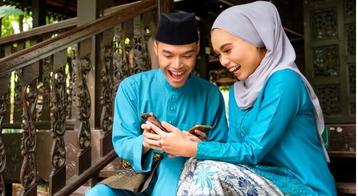 A Muslim couple in Indonesia