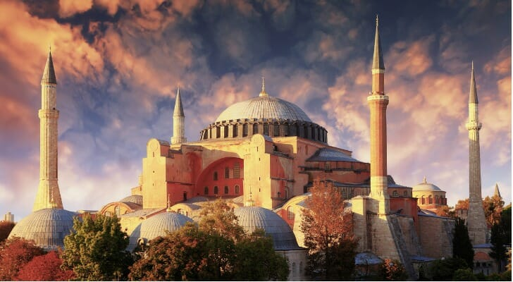 The 1,500-year-old Hagia Sophia church, recently turned into a mosque
