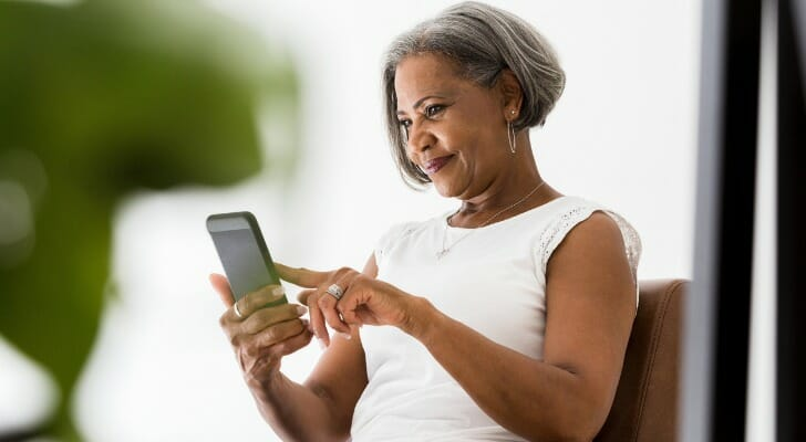 A woman plans her retirement