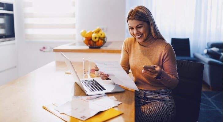 Young female investing with SoFi