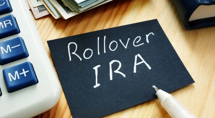 """""""Rollover IRA"""" written on a piece of paper"""