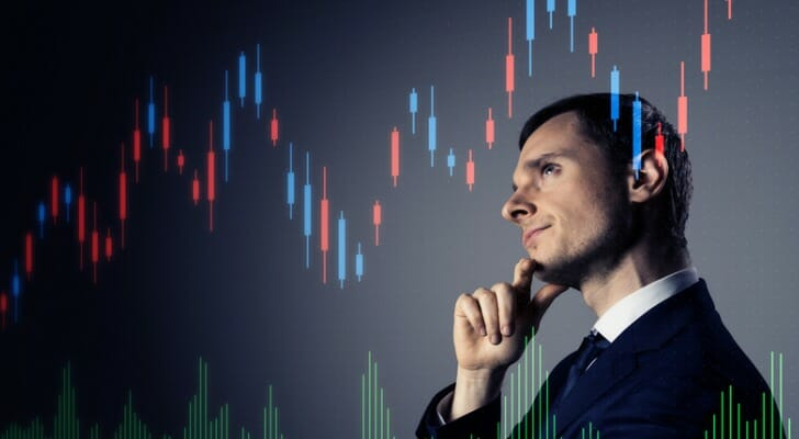 Financial advisor studies the SMI