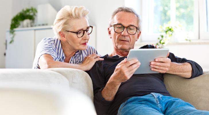 Retired couple studies their IRA