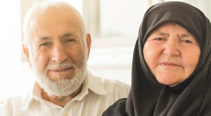 Retired Muslim couple
