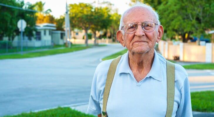 An elderly widower