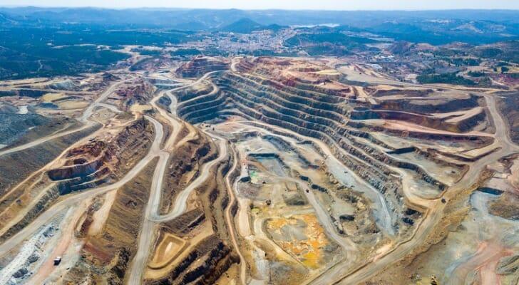 Copper mine in Rio Tinto, Huelva, Spain