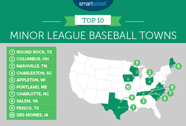 minor league baseball 2 map The Best Minor League Baseball Towns of 2016