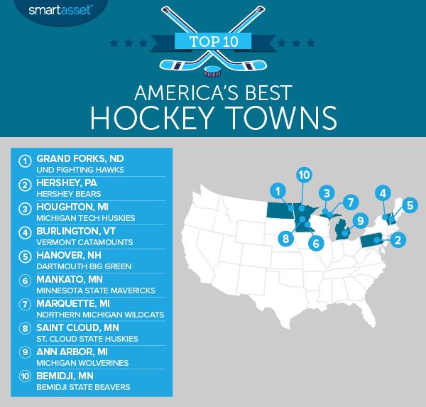 hockey 2016 map Americas Best Hockey Towns