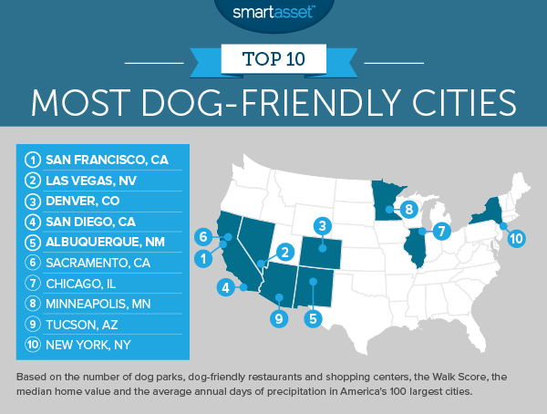 dog friendly 2 map 1 The Most Dog Friendly Cities in America