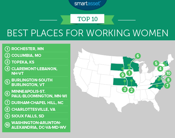 working women 2 map 1 The Best Places for Working Women