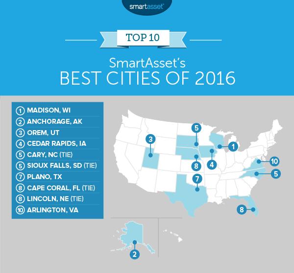SmartAsset's Best Cities of 2016