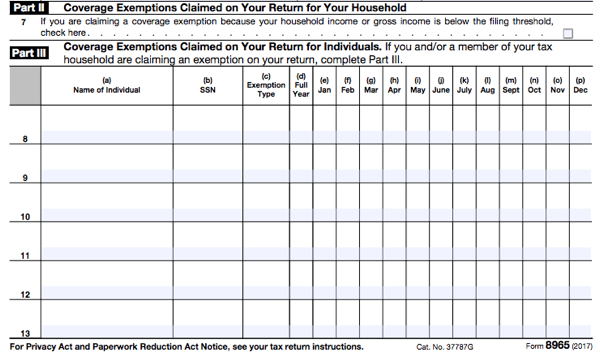 All About Irs Form 8965