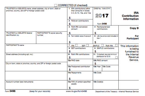 All About Irs Form 5498 Smartasset