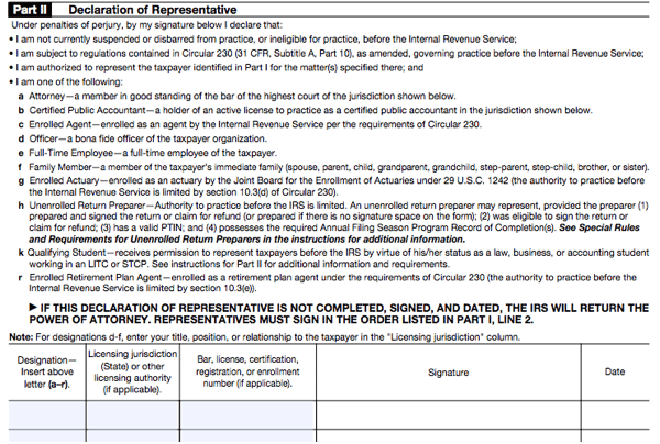 All About Irs Form 2848 Smartasset
