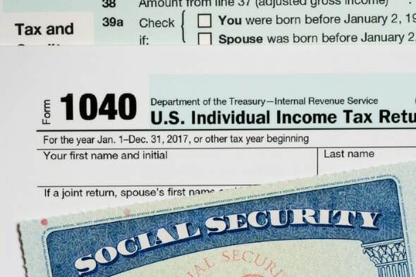 Work earning and social security benefit amount.