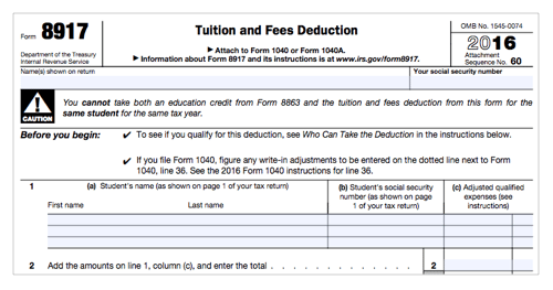 Instructions for how to fill in irs form 8917   wondershare pdfelement.