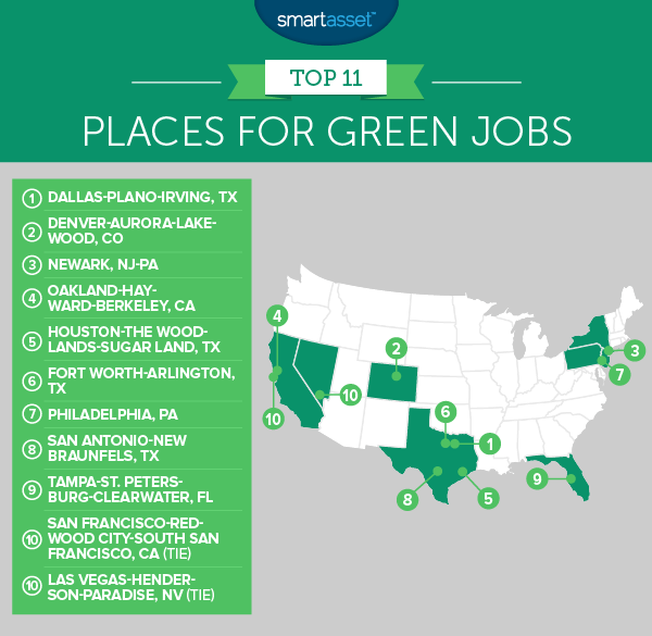 Best Places for Green Jobs