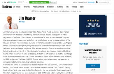 Jim Cramer: Financial Expert Profile