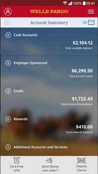Best banking apps - Wells Fargo