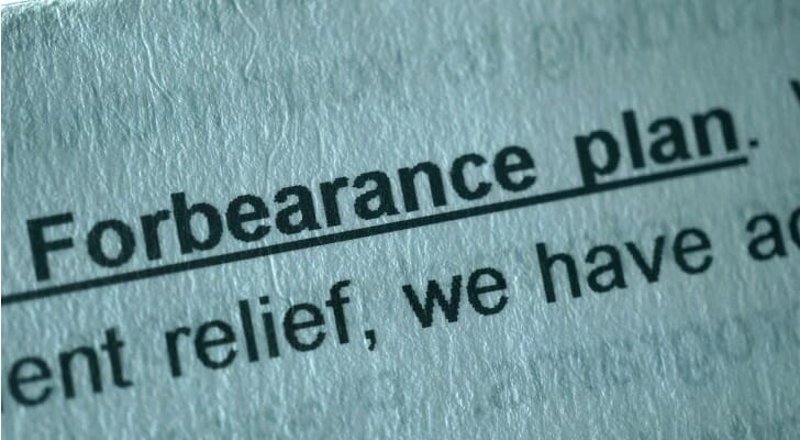 Mortgage forbearance document