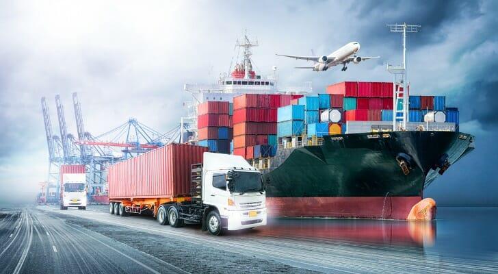 Montage of logistics assets