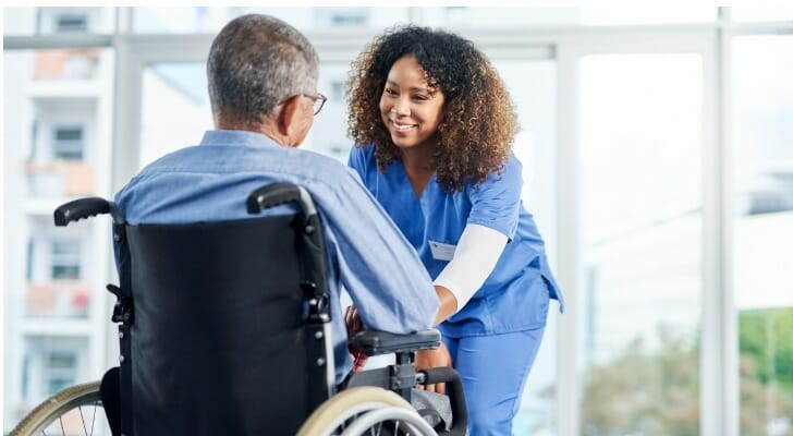 A nurse cares for a Medicare patient