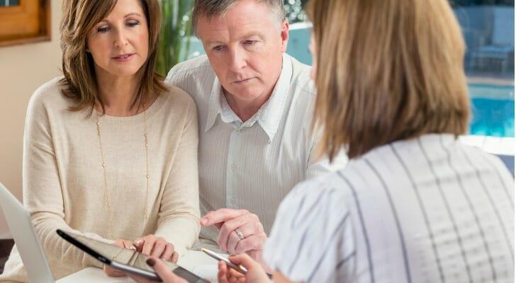 A couple makes estate planning arrangements