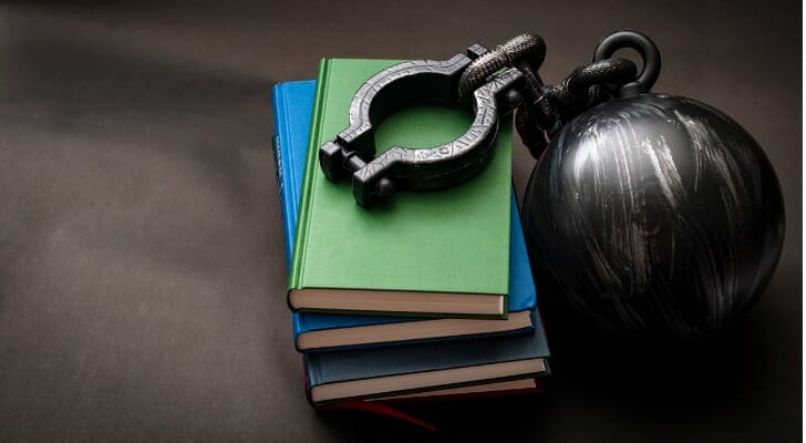 Books with a ball and chain
