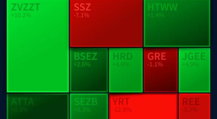 Stocks on screen