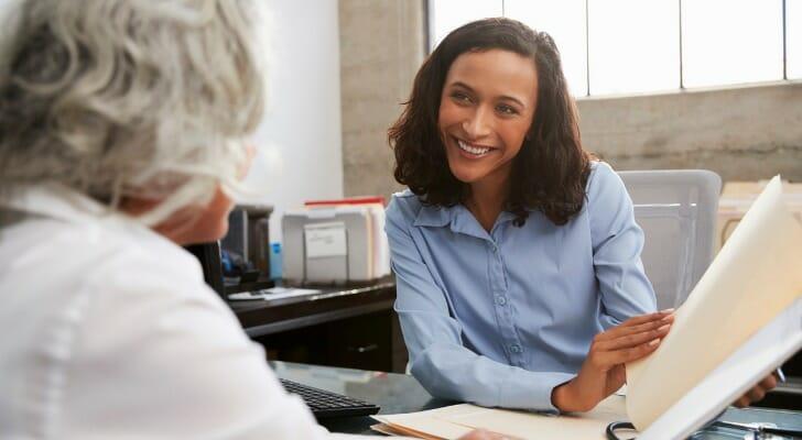 Financial advisor with her CFA designation