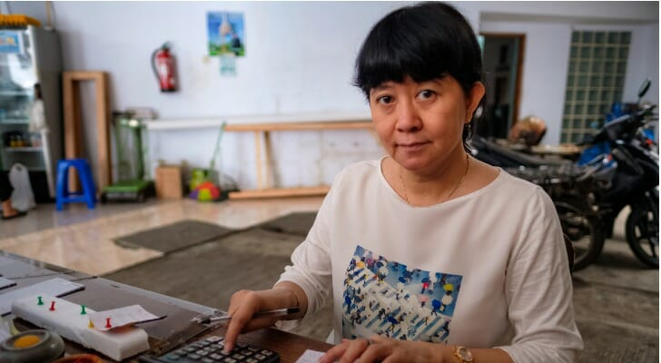 Female Asian business owner