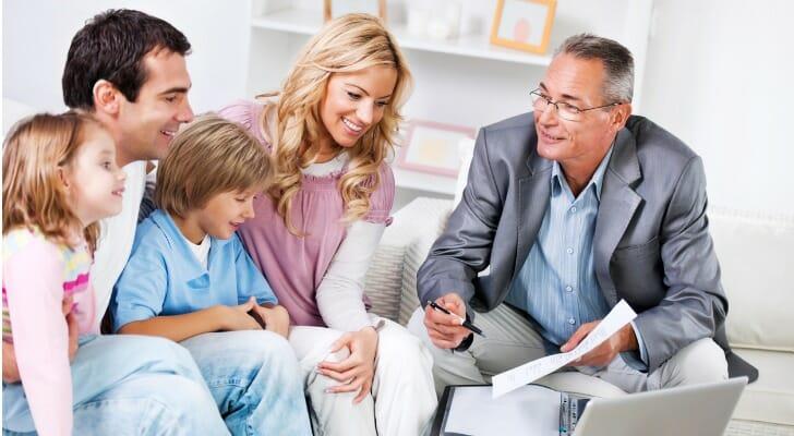 Financial advisor helps family set up a family budget