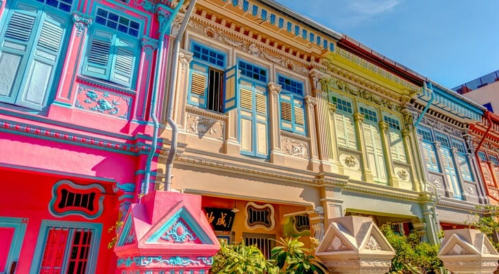 Houses in Joo Chiat district, Singapore