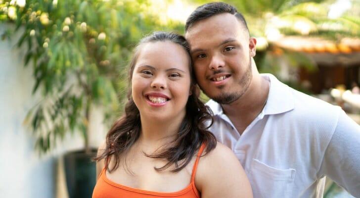 Happy special needs couple