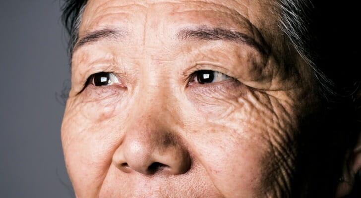 An older Asian woman