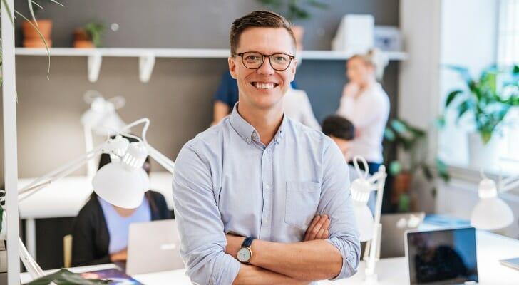 Danish man in his office