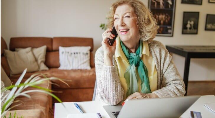 Happy retired woman