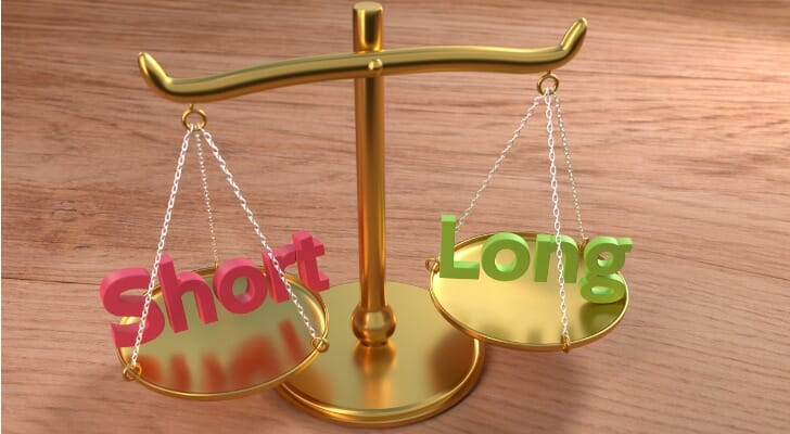 Short and long positions in a balance