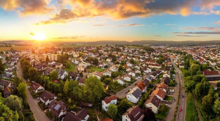 Panorama of suburbia